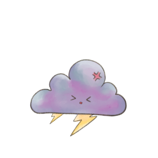 Kawaii Clouds - Sticker 2
