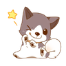 Chibi inu - Tray Sticker