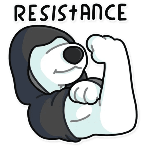 Resistance - Tray Sticker