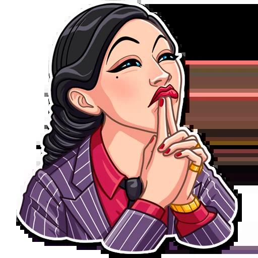 Mafia Girl - Sticker 14