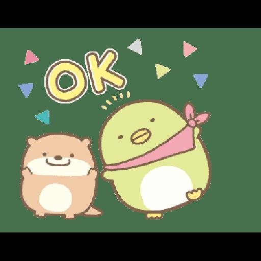 すみっコぐらし かわうそとすみっコ - Sticker 10