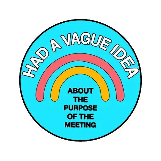 Meeting badges - Tray Sticker