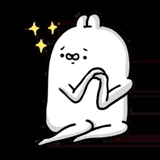 醜白兔2 - Sticker 3