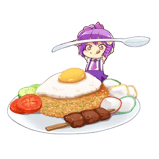 Anime Food - Sticker 2