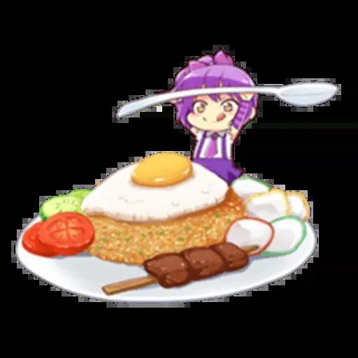 Anime Food - Sticker 2