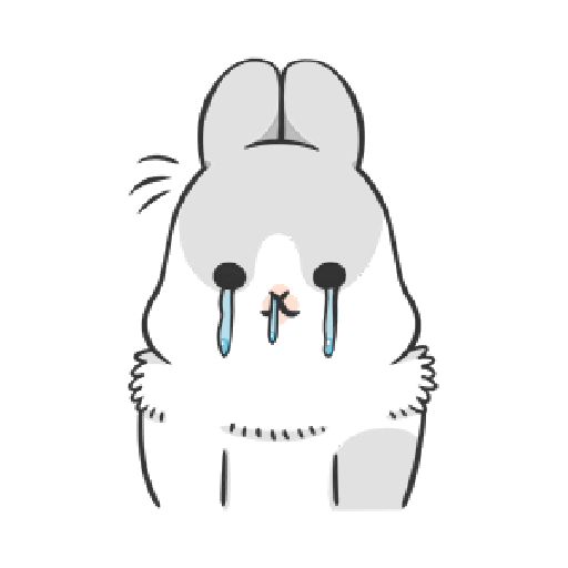 ㄇㄚˊ幾兔4, busy, cold, cry, go 30 - Sticker 15