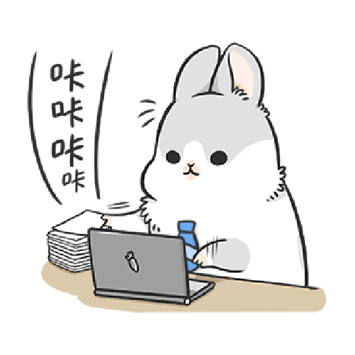 ㄇㄚˊ幾兔4, busy, cold, cry, go 30 - Sticker 5