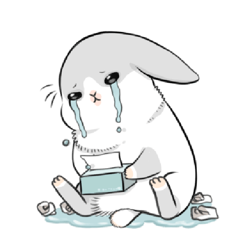 ㄇㄚˊ幾兔4, busy, cold, cry, go 30 - Sticker 18