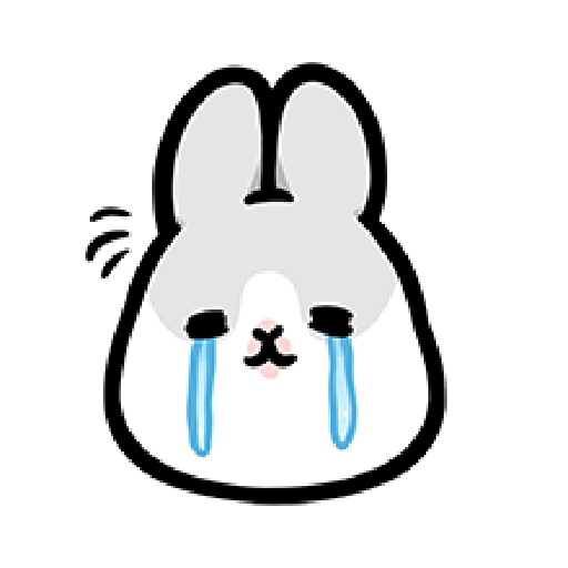 ㄇㄚˊ幾兔4, busy, cold, cry, go 30 - Sticker 16