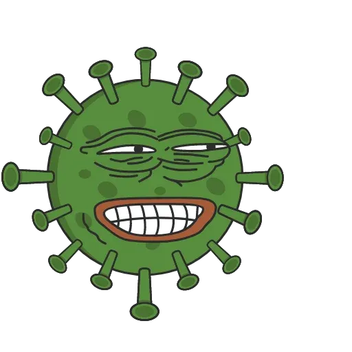 Pepe Coronavirus - Tray Sticker