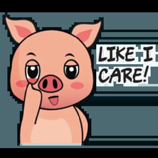 Laizy Piggy : Daily Talk - Sticker 25