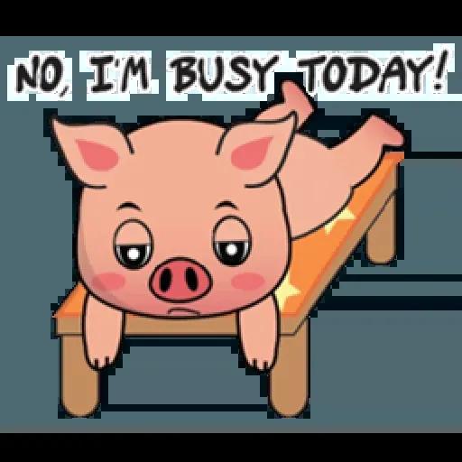 Laizy Piggy : Daily Talk - Sticker 8