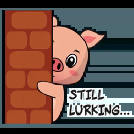 Laizy Piggy : Daily Talk - Sticker 28