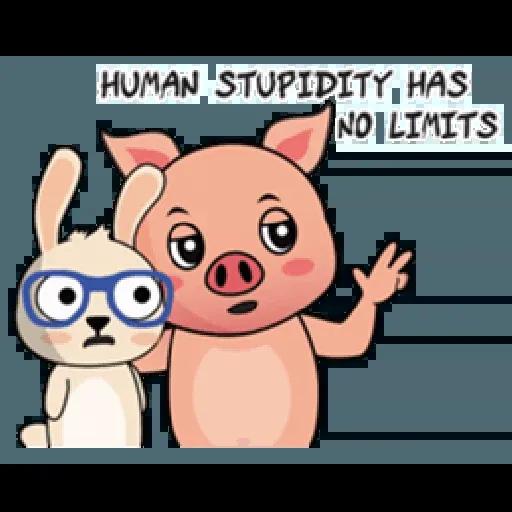 Laizy Piggy : Daily Talk - Sticker 12
