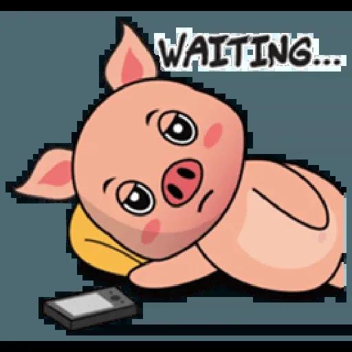 Laizy Piggy : Daily Talk - Sticker 29