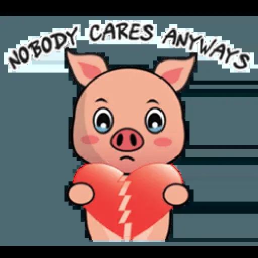 Laizy Piggy : Daily Talk - Sticker 30