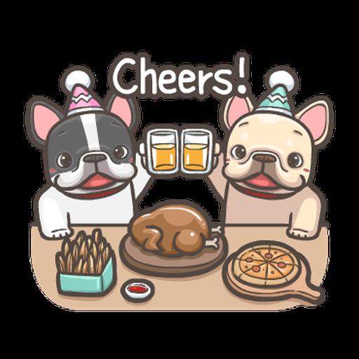 法鬥皮古-狂歡派對(第18彈) 聖誕貼圖 - Sticker 4