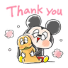 Mickey friends - Meong - Tray Sticker