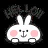 Rabbit Doodle 01 - Tray Sticker