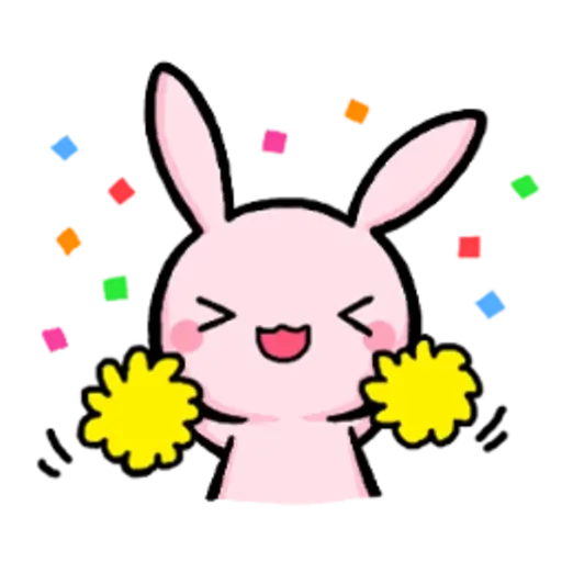 Rabbit pink - Sticker 2
