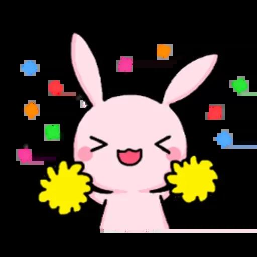 Rabbit pink - Sticker 2