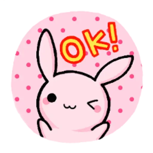 Rabbit pink - Sticker 5