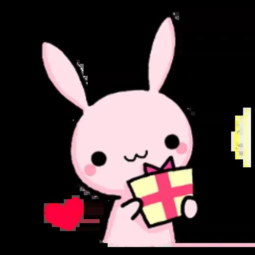 Rabbit pink - Sticker 19