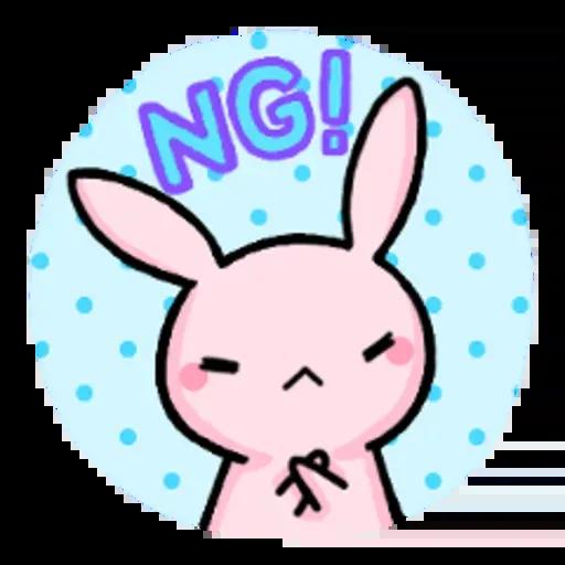 Rabbit pink - Sticker 13