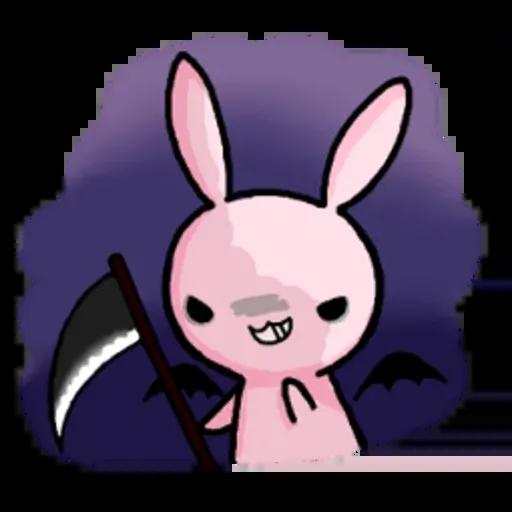Rabbit pink - Sticker 3