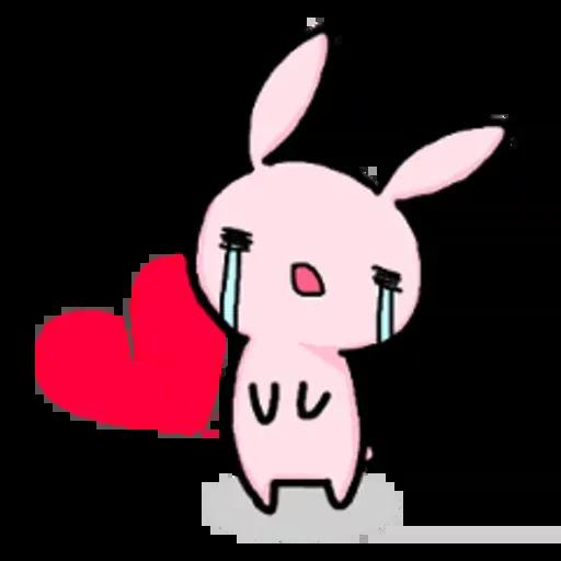 Rabbit pink - Sticker 22
