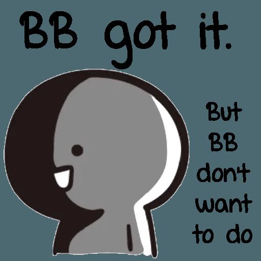 Bb never tell 2 - Sticker 10
