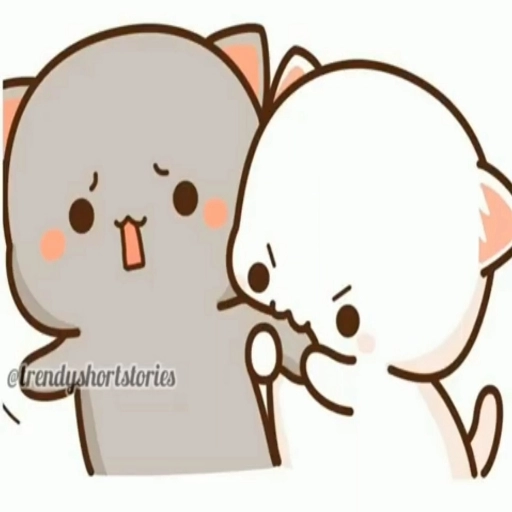 peach and goma cat - Sticker 4