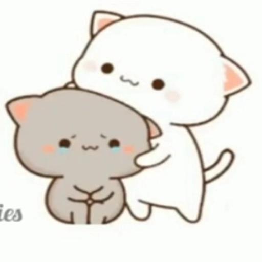 peach and goma cat - Sticker 6