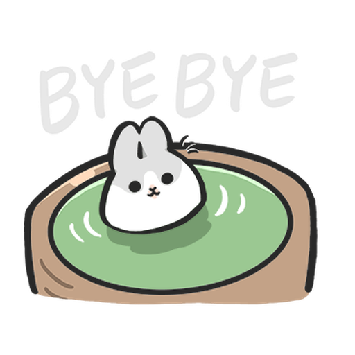 ㄇㄚˊ幾兔13  food, bye, relax - Sticker 16