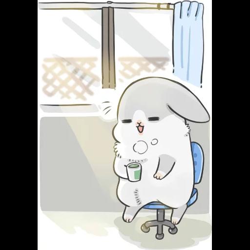 ㄇㄚˊ幾兔13  food, bye, relax - Sticker 21