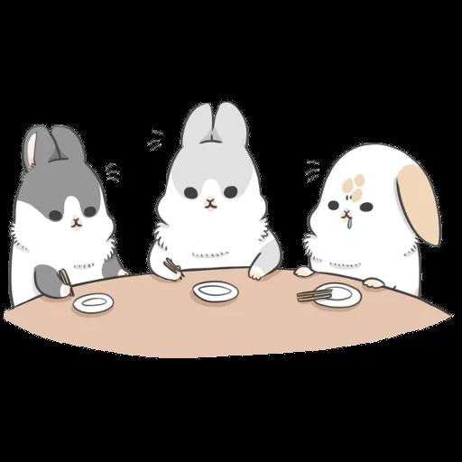 ㄇㄚˊ幾兔13  food, bye, relax - Sticker 6