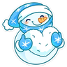 Snowman - Tray Sticker