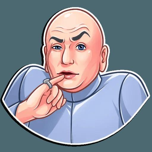 Dr. Evil - Tray Sticker