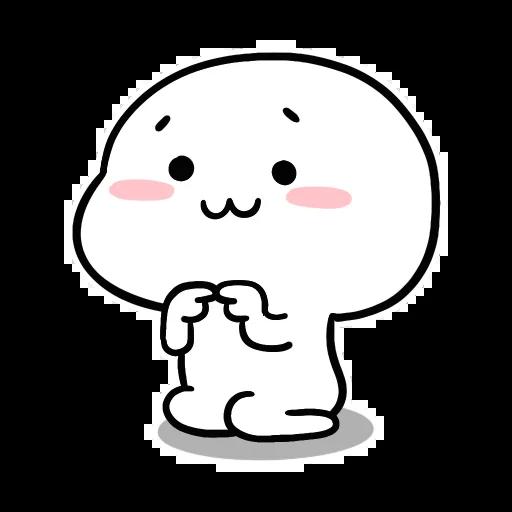 Small White Face - Sticker 30