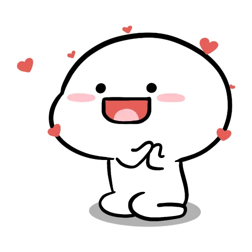 Small White Face - Sticker 13