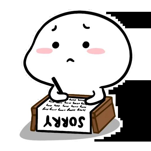 Small White Face - Sticker 16