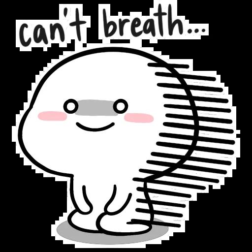 Small White Face - Sticker 8