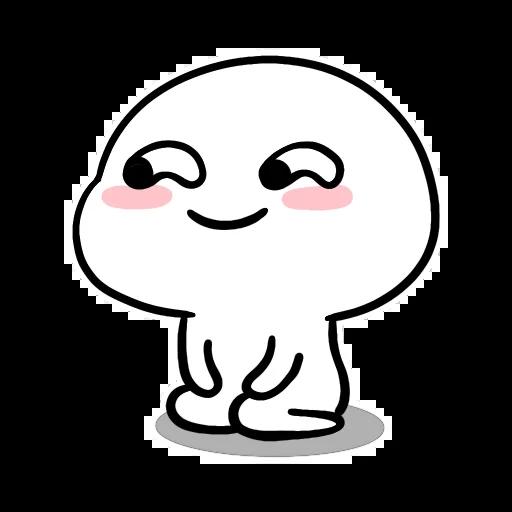 Small White Face - Sticker 11