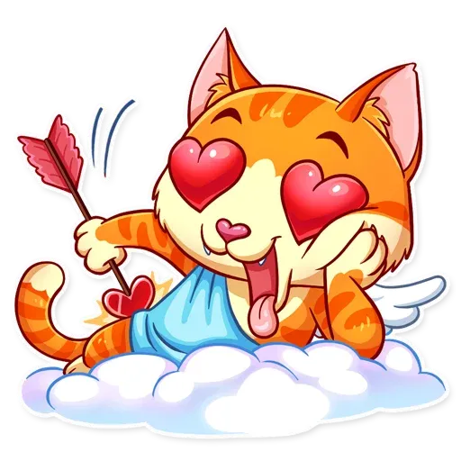 Cupid Cat - Sticker 3
