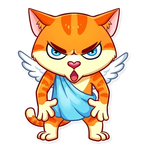 Cupid Cat - Sticker 21
