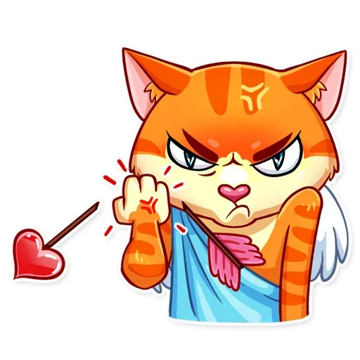 Cupid Cat - Sticker 13