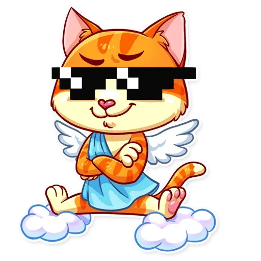 Cupid Cat - Sticker 16