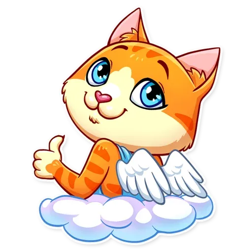 Cupid Cat - Sticker 5