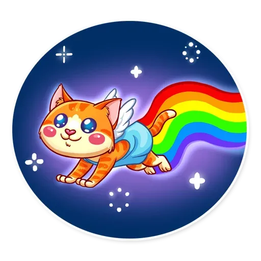 Cupid Cat - Sticker 17