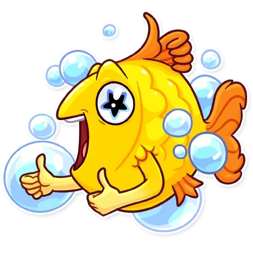 Gold Fish - Sticker 3